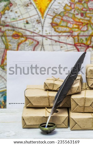 Subject to mail address - stock photo