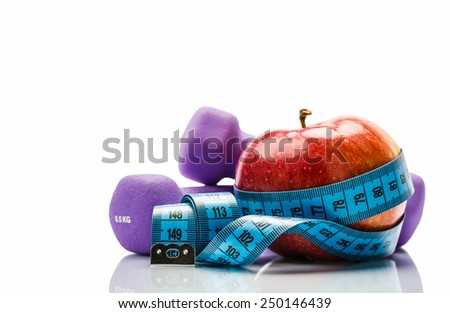 Subjects for a healthy lifestyle - stock photo
