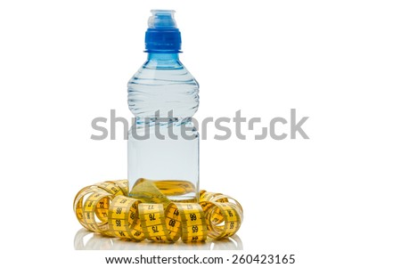 Subjects for a healthy lifestyle, isolated - stock photo