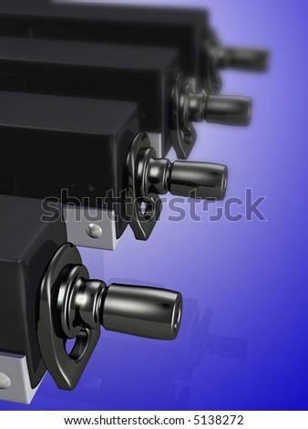 Submachine gun 3d conept illustration - stock photo