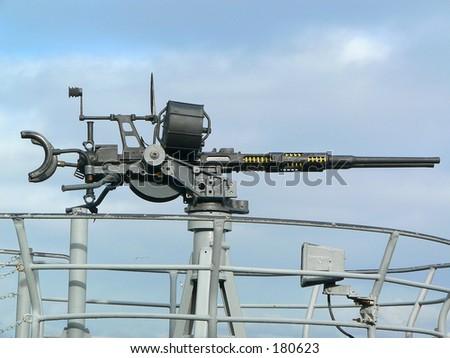 Submarine machine gun - stock photo