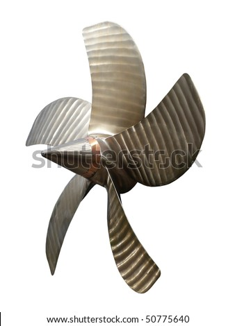 Submarine Propeller with clipping path