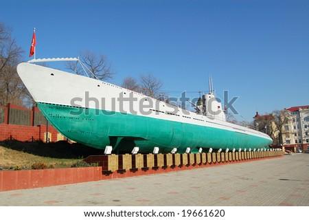 Submarine S-56, Vladivostok, Russia - stock photo