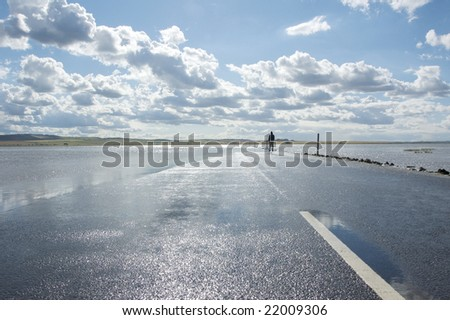 submerged road