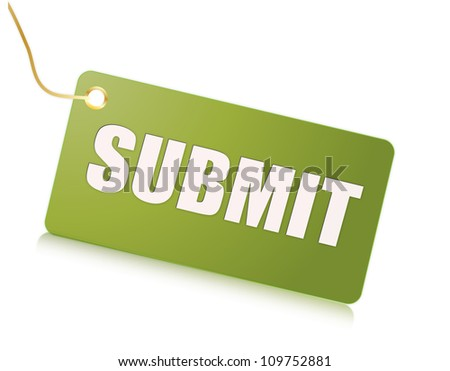 submit label - stock photo