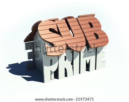 Subprime house - stock photo