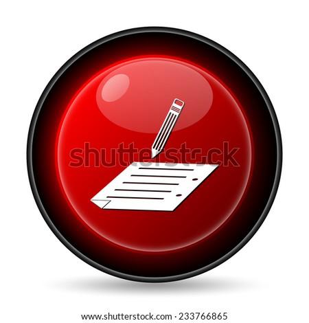 Subscribe icon. Internet button on white background.  - stock photo