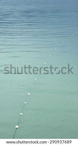 Subsistence fishing set gill net float line for salmon fishing in Southeast Alaska. - stock photo