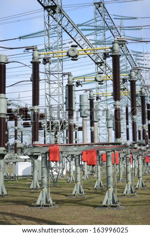 Substation - stock photo