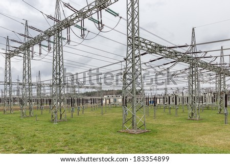 Substation from a utility company