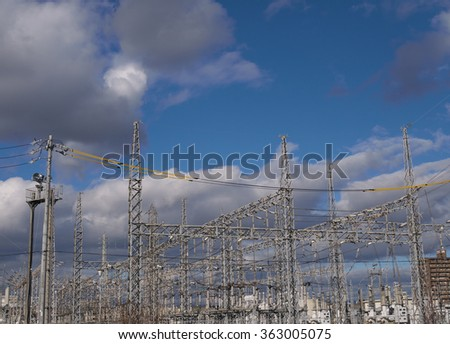 substation under the sky in japan