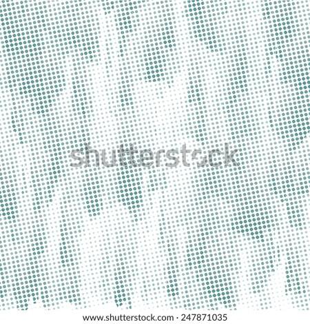 subtle blue halftone pattern, white background - stock photo