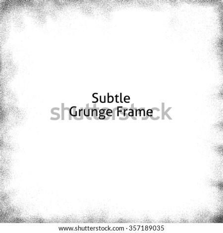 Subtle grunge frame - stock photo