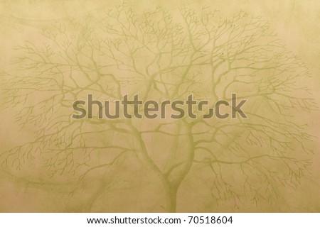 subtle tree background - stock photo