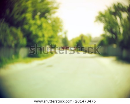 suburban blur background - stock photo