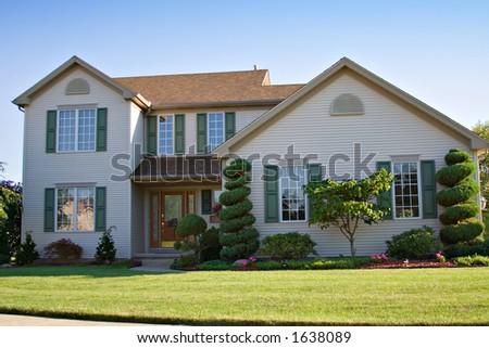 Suburban family home. - stock photo