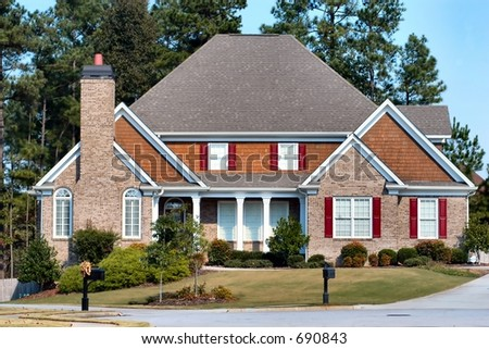 Suburban Home - stock photo