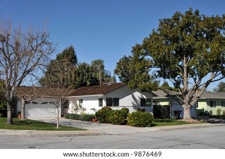 Suburban home, Mountain View, California - stock photo