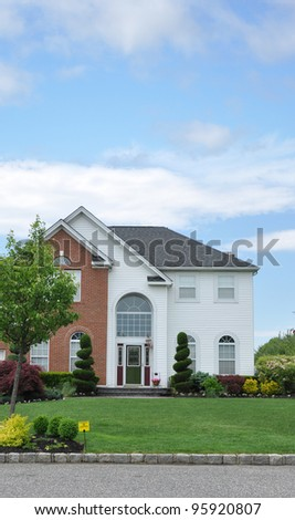 Suburban Home under beautiful blue sky