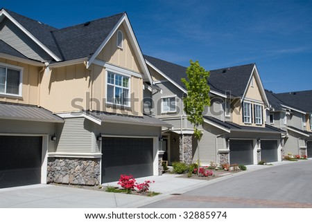 Suburban Homes - stock photo