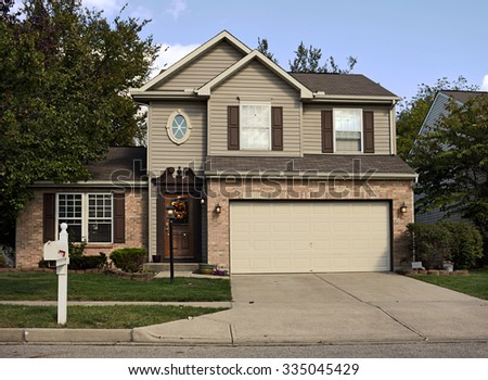Suburban House with Double Garage