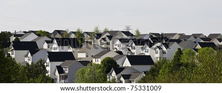 Suburban landscape - stock photo