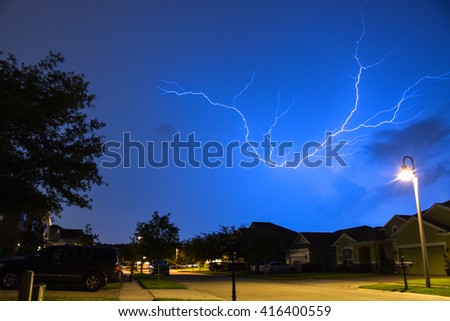 Suburban Lightning - stock photo
