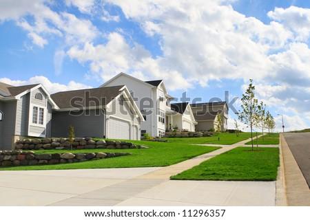Suburban Neighborhood - stock photo