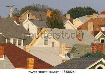 Suburban Pittsburgh neighborhood. - stock photo