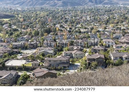 Suburban Simi Valley near Los Angeles, California.   - stock photo