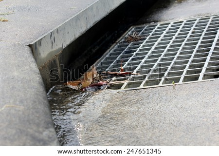 Suburban Storm Water drain 2 - stock photo