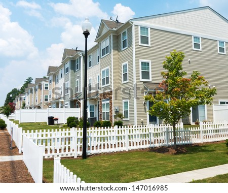 Suburban Three story Town Homes  - stock photo