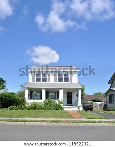 Suburban Two Story Home - stock photo