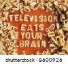 subversive spaghetti message!! - stock photo