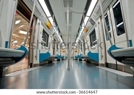 Subway cart - stock photo