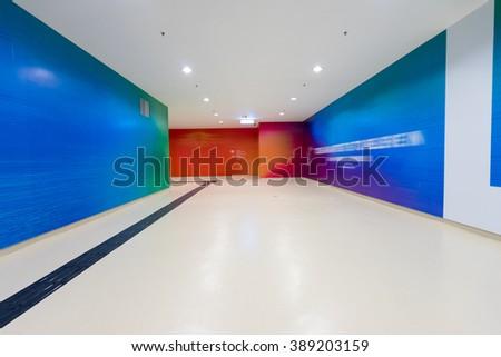 Subway corridor - stock photo