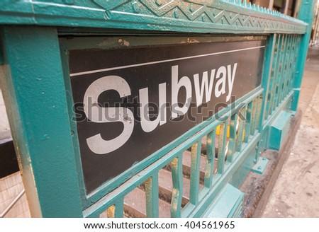 Subway entrance. - stock photo