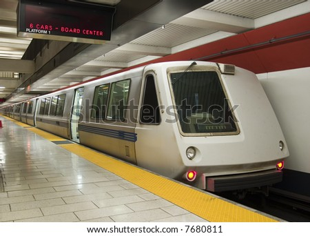 Subway from the front - stock photo
