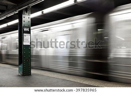Subway in Manhattan, New York - stock photo