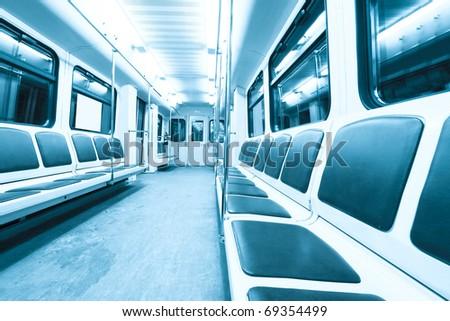 subway inside - stock photo