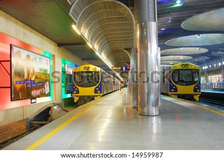 subway platform - stock photo