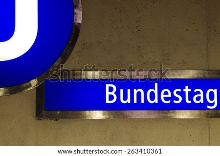 "subway station ""bundestag"" in berlin, germany"