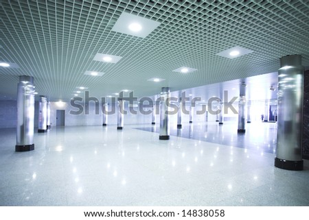 Subway station hall in Moscow - stock photo