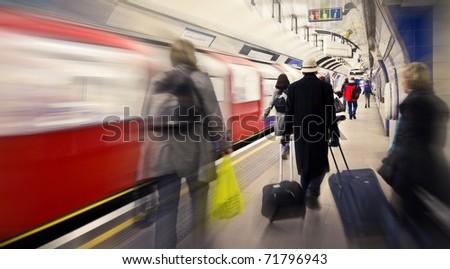 Subway station in London, UK - stock photo