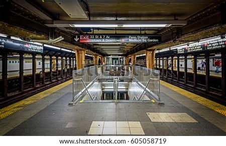 SUBWAY SYSTEM, SEPTEMBER 2017; New York City Subway, Penn Station