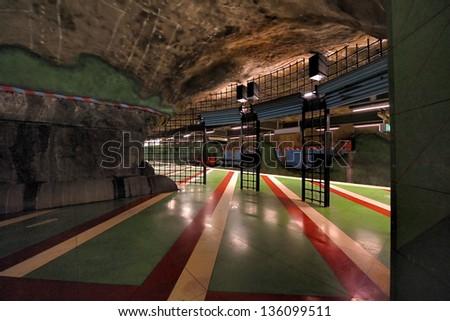 Subway Sztockholm ,King's Garden , Sweden, Europe - stock photo