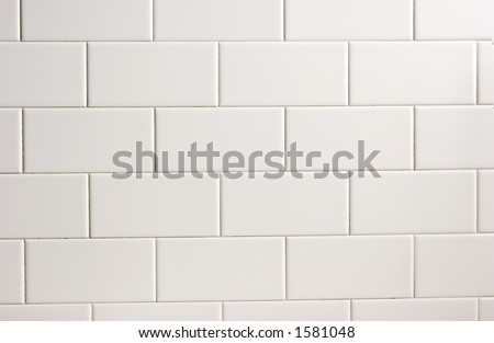 subway tile texture - stock photo