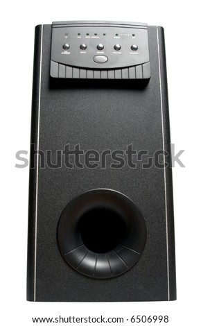 subwoofer isolated on white