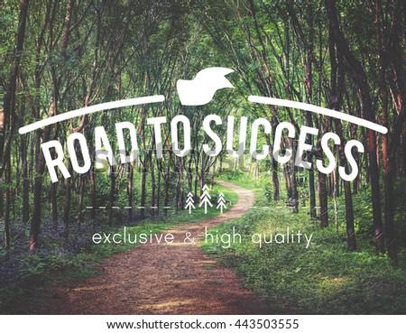 Success Achievement Accomplishment Goal Ability Concept - stock photo
