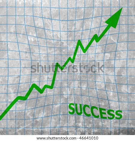 success: arrow graph going up - stock photo